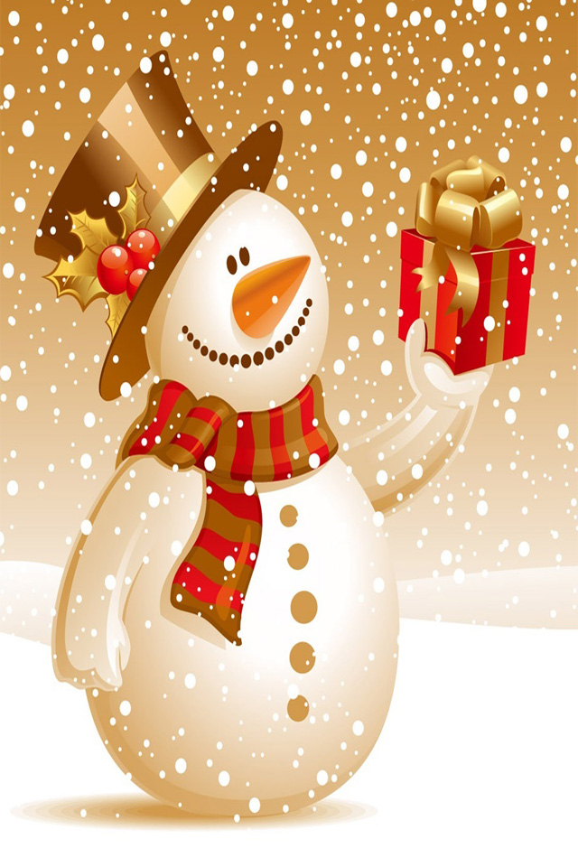 Christmas Snowman iPhone4 Wallpapers 3