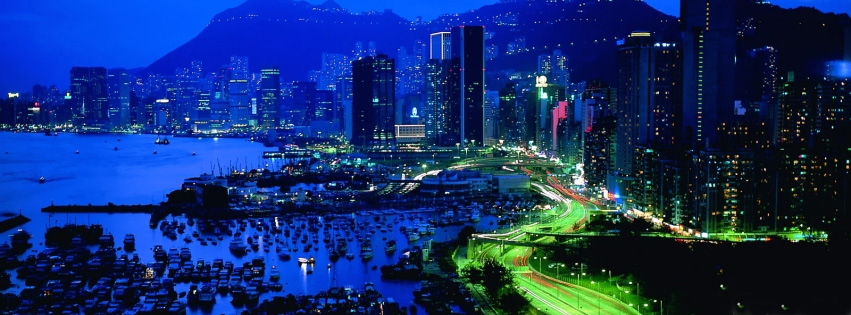 City scape at Night-facebook cover photo