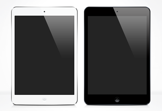 iPad mini - PSD Vector Mock Up