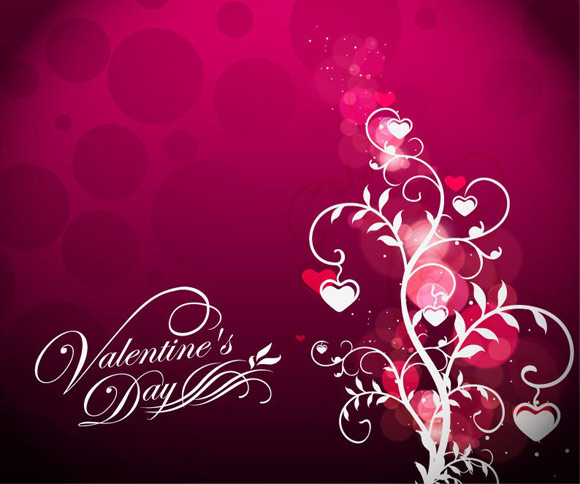 Valentines-Day-Floral-on-Red-Background