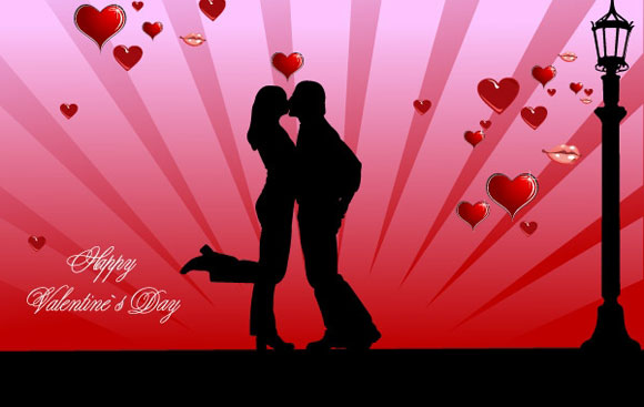Valentines-Day-couple-kissing