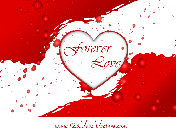forever love valentines-love-heart-free-vector-graphics
