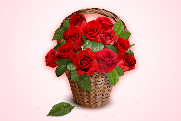 free-basket-of-roses-vector