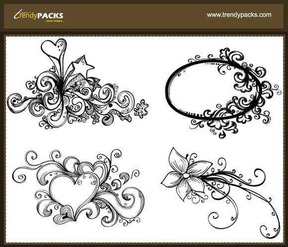 Free-Hand-Drawn-Vector-Ornaments