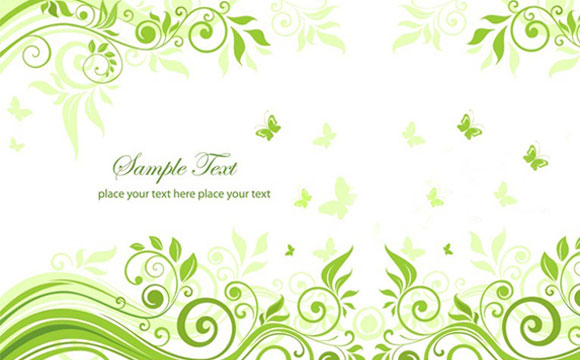 Green Floral Ornament Vector