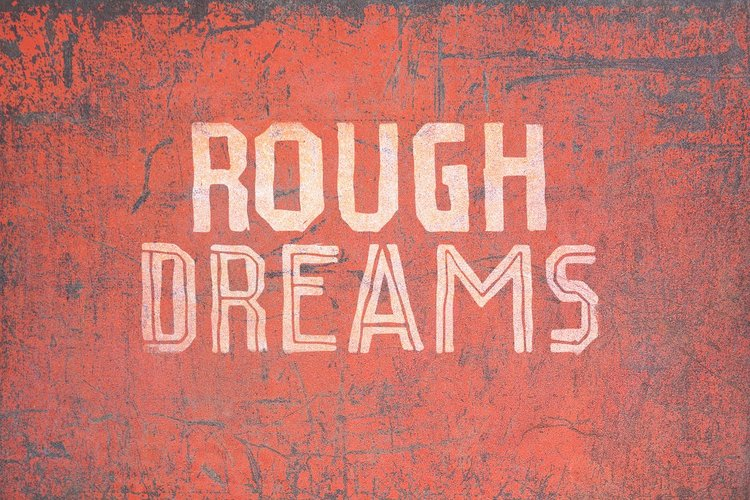 Rough Dreams Wood Font