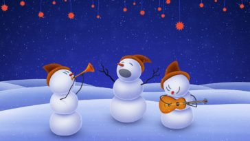 Snowmen Band 4K Wallpaper for Desktop