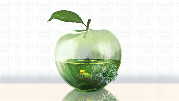 13-Photo-Manipulation-glass-apple