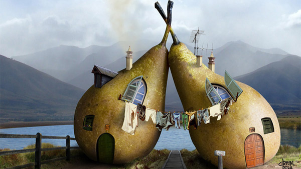 17-Photo-Manipulation-twin-pears-house