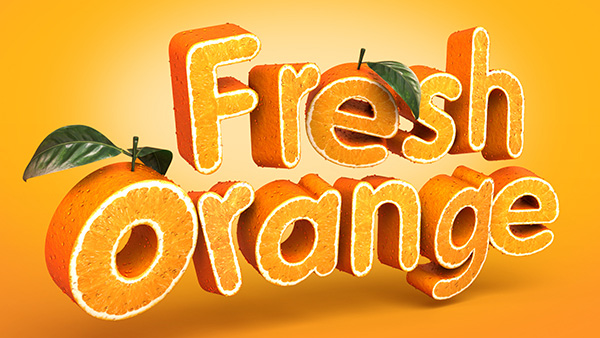 Photoshop Tutorials Fruit Text Effect