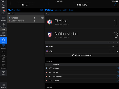 TheScore Mobile apps