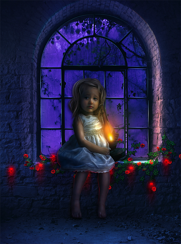 Photo Manipulation Of a Lonely child