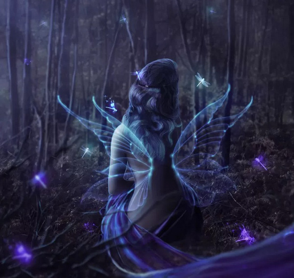 Playing-with-Glows-and-Blurs--Fairy-in-the-Woods