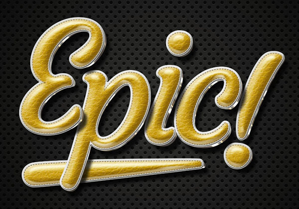 Retro Gold Leather Text Effect