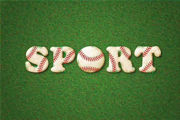 Baseball-Inspired Text Effect Tutorial Adobe Illustrator