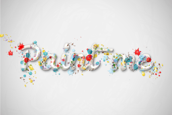 Create a Multicolored Splashed Text Effect Tutorial