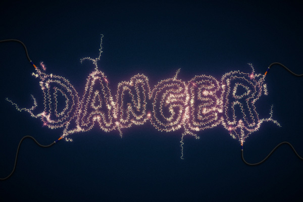 Danger-Create-an-Electric-Text-Effect-tutorial