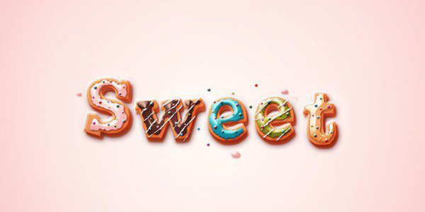 Delicious-Donut-Text-Photoshop-Tutorial