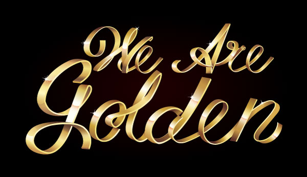 Golden With This Shiny Metallic Text Art Effect-tutorial