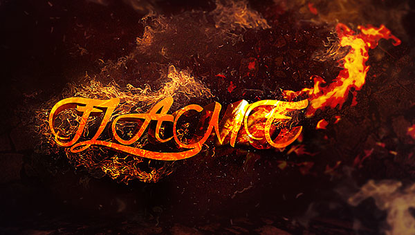crack-flame-text-flatten-photoshop tutorial