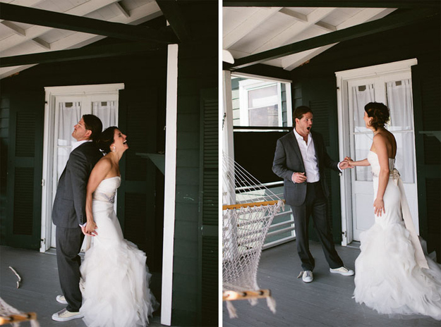 Groom see bride first time on Wedding day photos 15