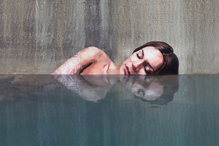 Stunning Seaside Murals While Balancing on His Paddle Board 2