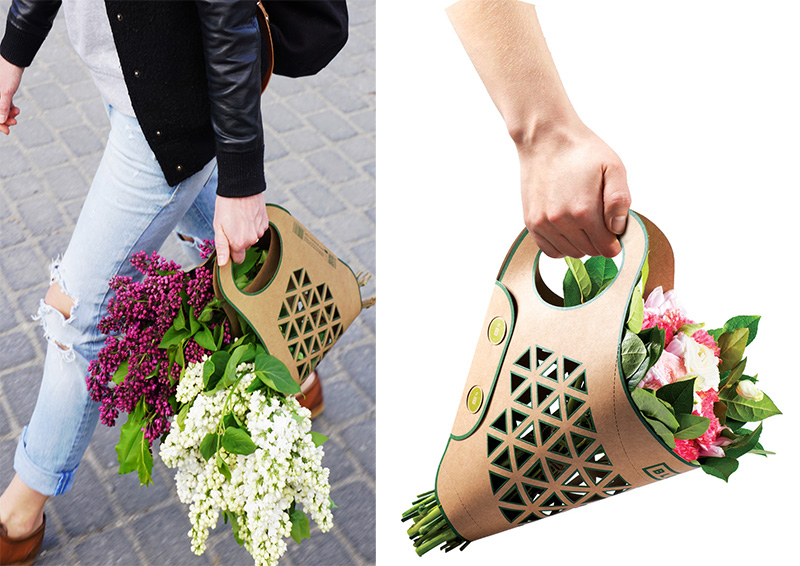 Bluma Paper Bag for Carrying Flowers Comfortably 1
