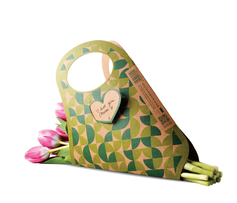 Bluma Paper Bag for Carrying Flowers Comfortably 3