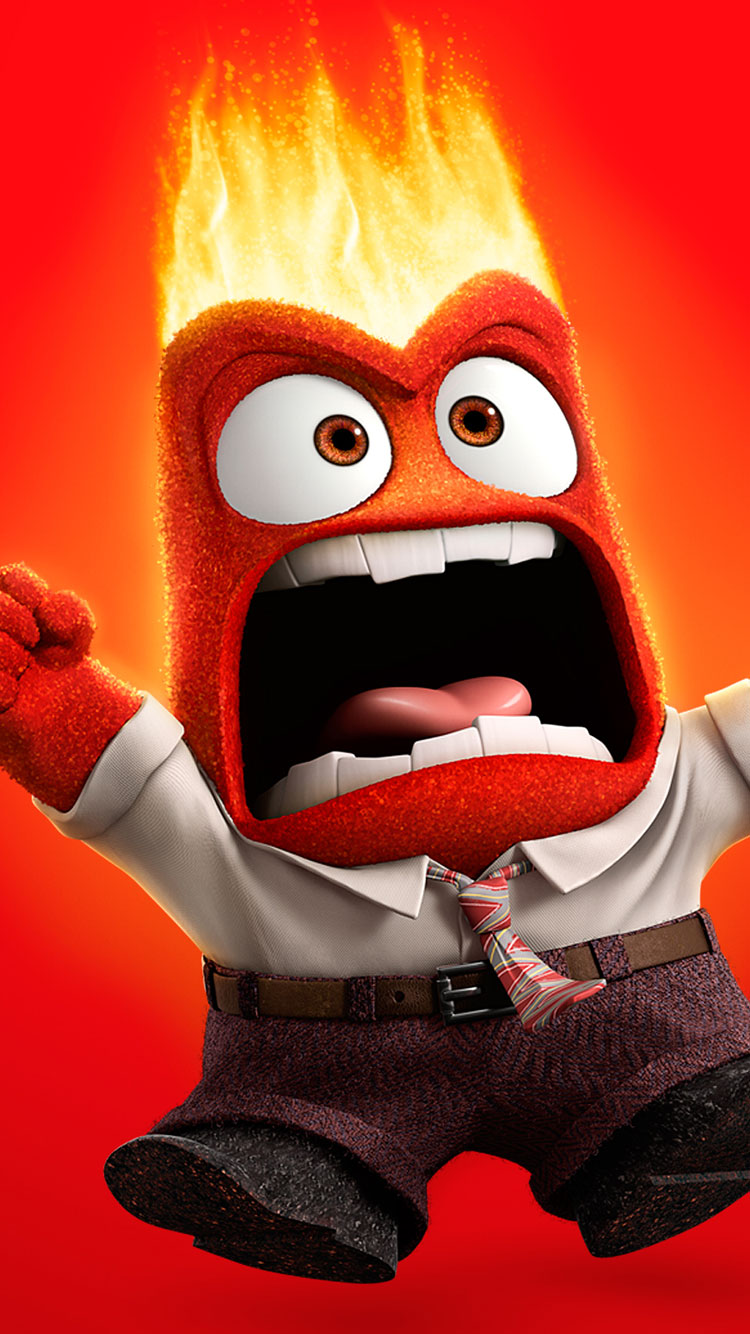 Disney Movie Inside Out Anger iPhone-6 Wallpaper