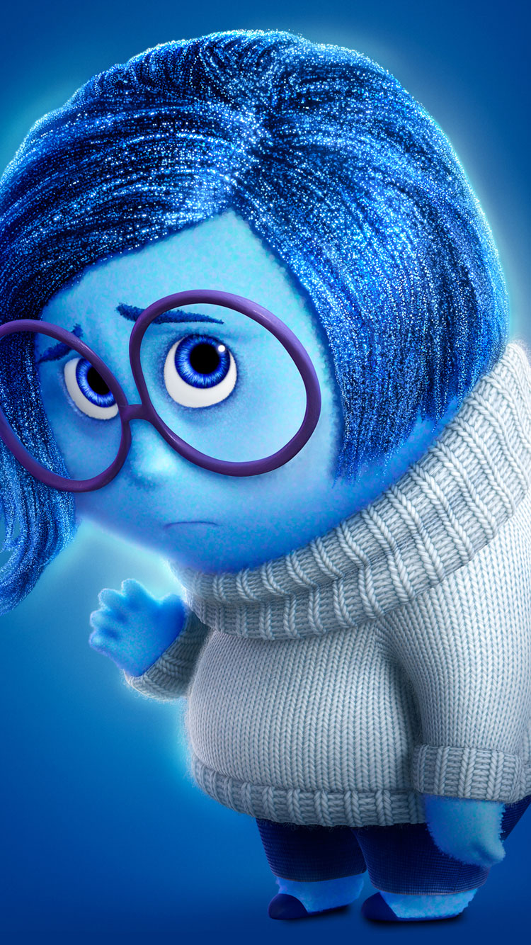 Inside Out-Sadness disney wallpapers for iphone