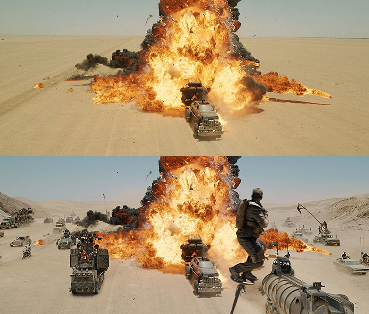 Mad Max-Fury Road Before and After Comparisons of the Visual Effects 1