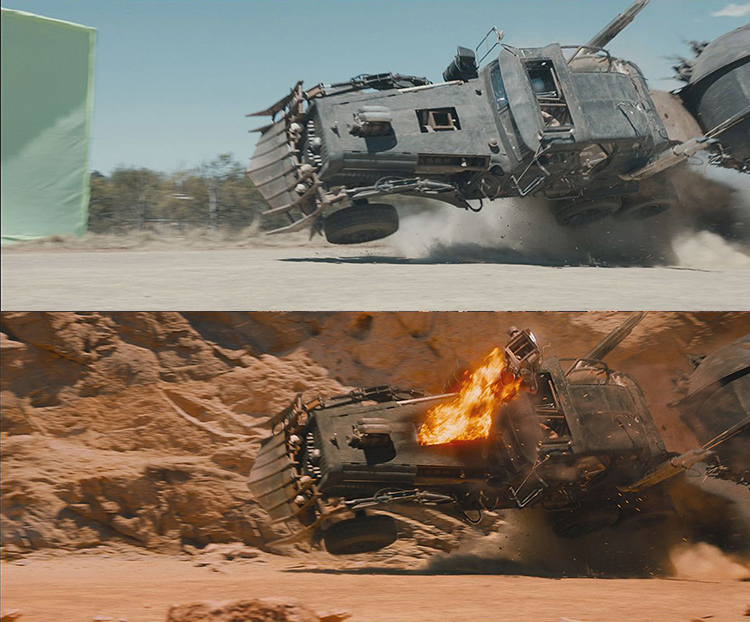 Mad Max-Fury Road Before and After Comparisons of the Visual Effects 10