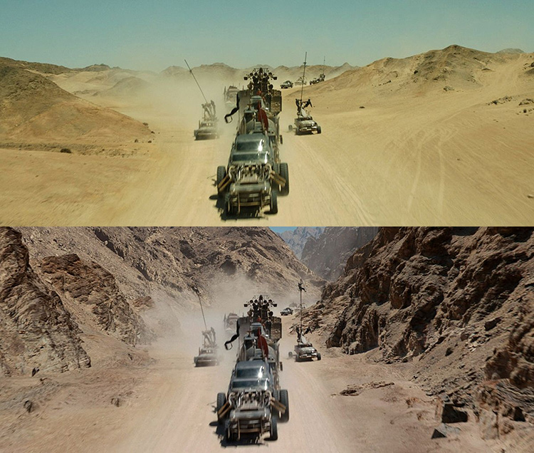 Mad Max-Fury Road Before and After Comparisons of the Visual Effects 2