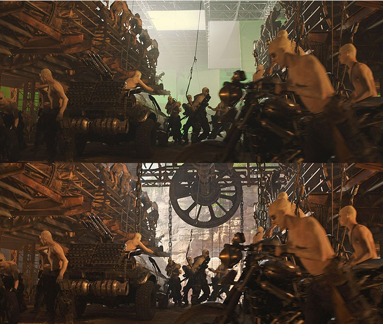 Mad Max-Fury Road Before and After Comparisons of the Visual Effects 3