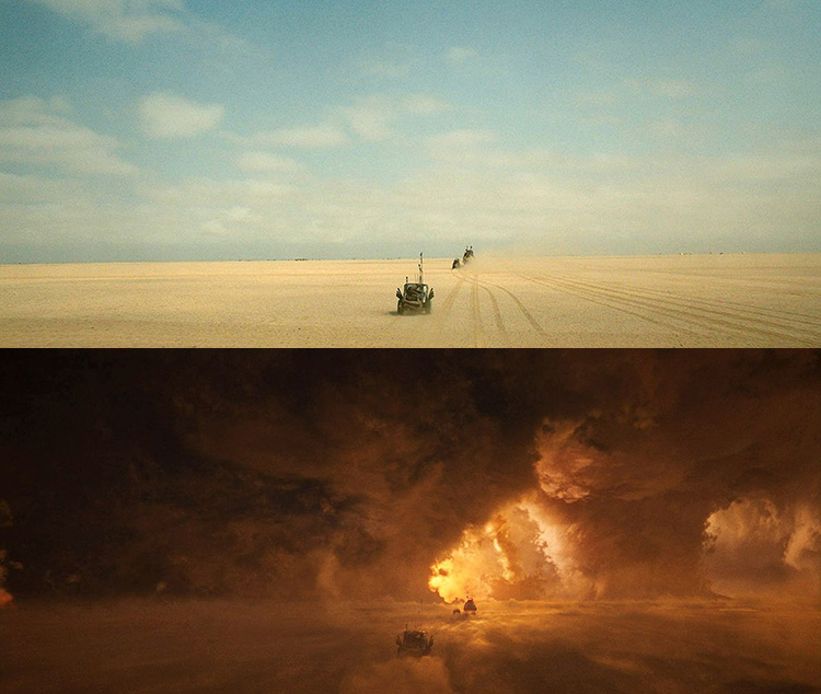 Mad Max-Fury Road Before and After Comparisons of the Visual Effects 5