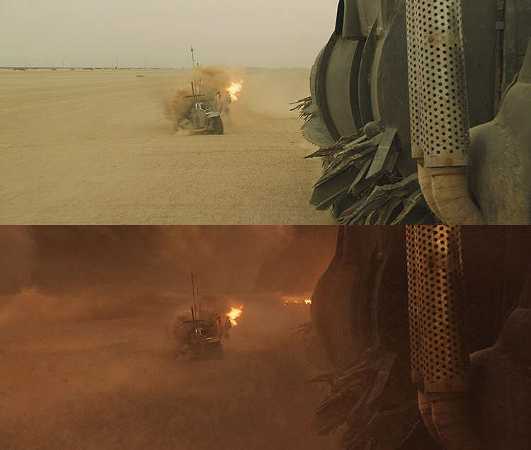 Mad Max-Fury Road Before and After Comparisons of the Visual Effects 6