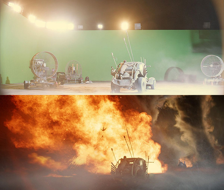 Mad Max-Fury Road Before and After Comparisons of the Visual Effects 7