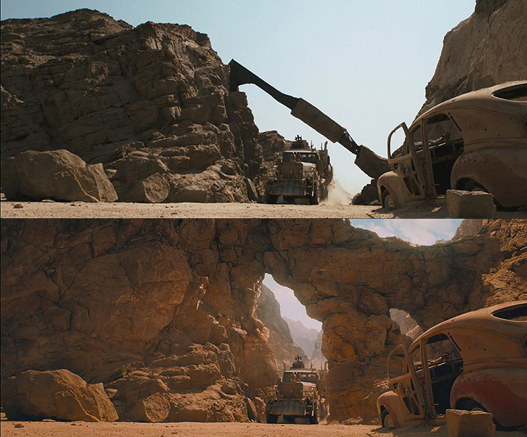 Mad Max-Fury Road Before and After Comparisons of the Visual Effects 8