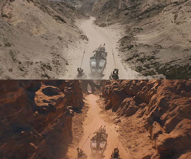Mad Max-Fury Road Before and After Comparisons of the Visual Effects 9