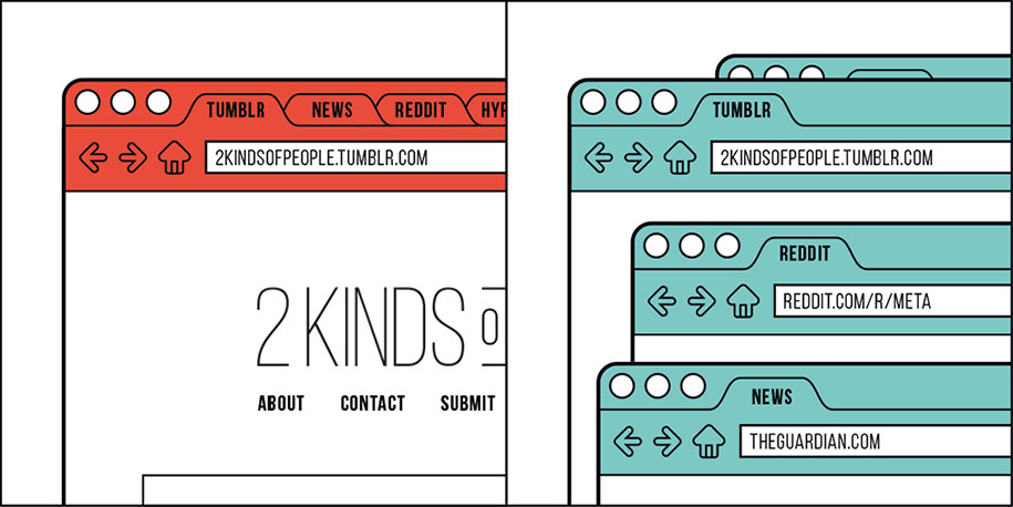 clever simple illustrations two kinds of people 10