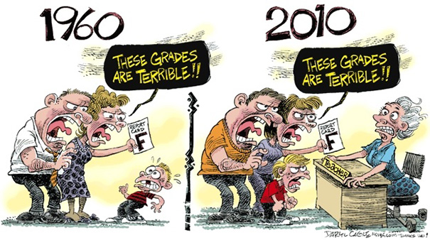 funny cartoons differences world now and then 3
