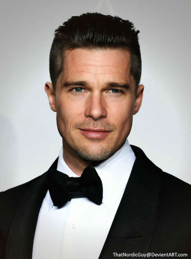 Photo Manipulations Combine Brad Pitt - Ethan Hawke