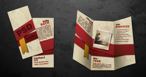 17 Free Brochure Templates .psd files front and back
