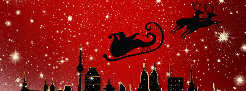 Facebook Cover Photo Santa Claus is Coming to City