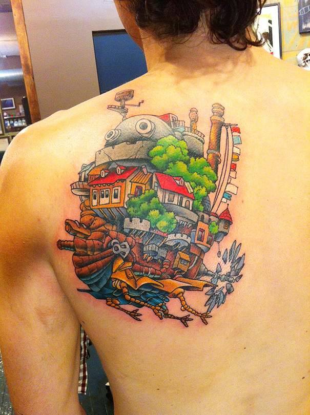 Howl Moving Castle Tattoo