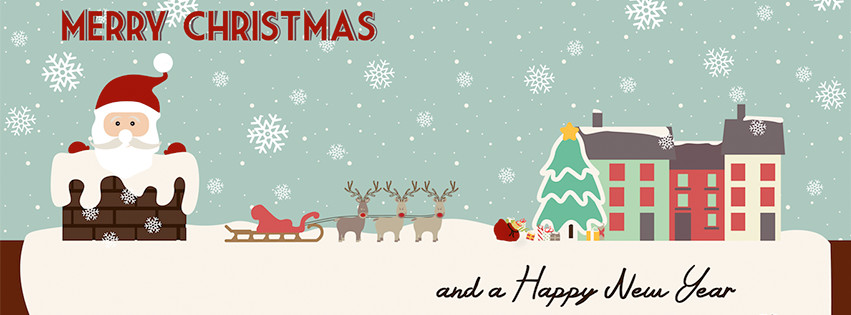 Merry Christmas and Happy New Year 2016 Facebook Cover Photos