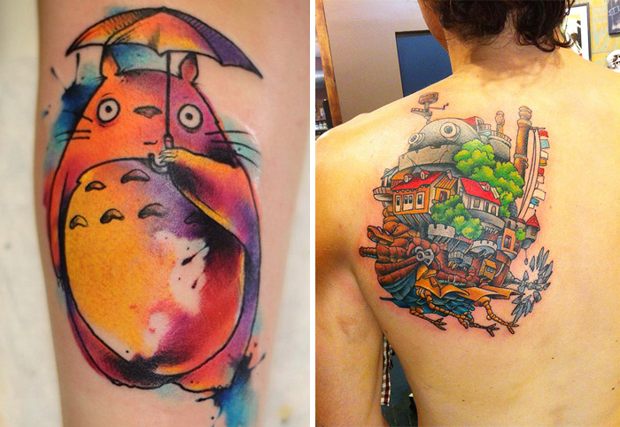 studio ghibli tattoos 2