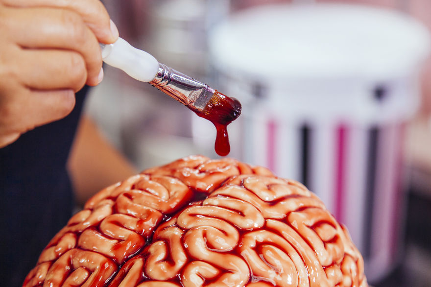 How To Make A Brain Cake for Halloween