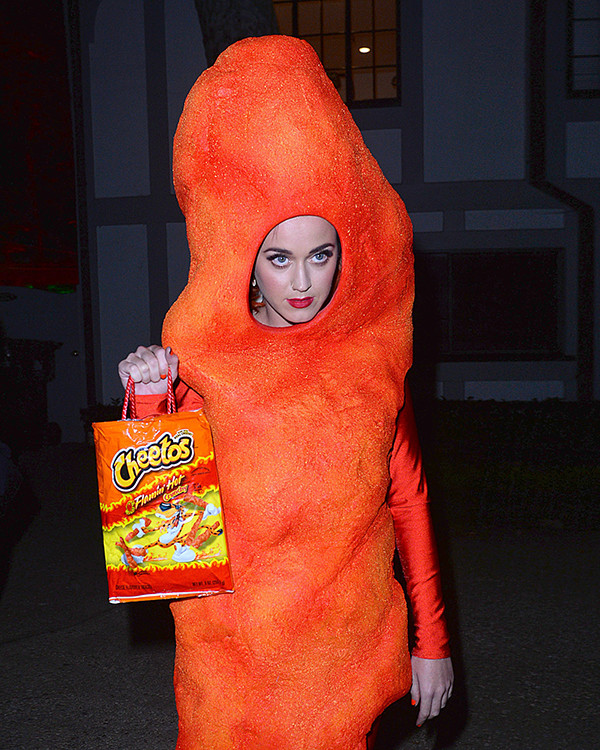 Katy Perry as a giant, flamin hot Cheeto Halloween Celebrities