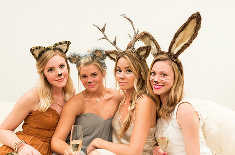 Lauren Conrad and friends dressed as party animals.